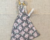 Grey and Pink Floral Camille Pieced Doll
