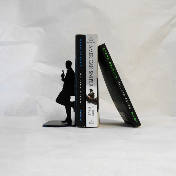 Special Agent / 007 / James Bond / Spy / Mission Impossible / Double Agent / Undercover / Secret Agent / Metal Art Bookends