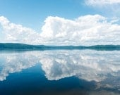 Symmetrical Clouds Reflected on a Lake in Sweden - Water Cloudscape Fine Art Photography Print