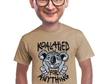 koala t-shirt mens funny animal tee fans of koalas Australia kangaroos funny puns for geeks nerds college guy marsupial lovers  s-4xl