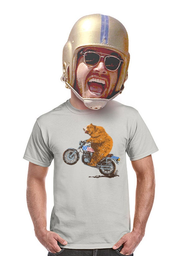 Items similar to harley shirt funny motorcycle shirts for for Bear river workwear shirts