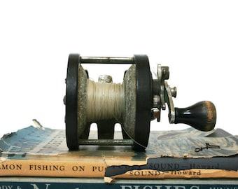 Vintage Fishing Reel / Ocean City Deep Sea Reel / Beach Cottage or Nautical Style Decor