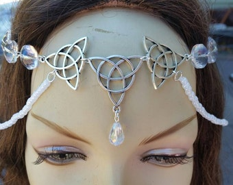 Crystalline Circlet of the Winters Ritual celtic elven druid larp bridal