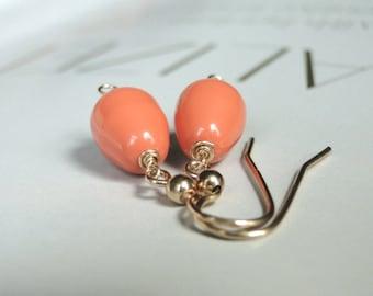 Spring Dangle Earrings, Swarovski Pearl Earrings, Jewelry, Accessories, 14k Gold Filled Ear Wires, Spring Earrings, Boho Chic