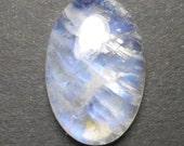 Video ! - Natural Rainbow Moonstone Cabochon - Oval Rainbow Moonstone - Oval - Gemstone Supplies  - Blue Flash - Pendant Stone - BL96