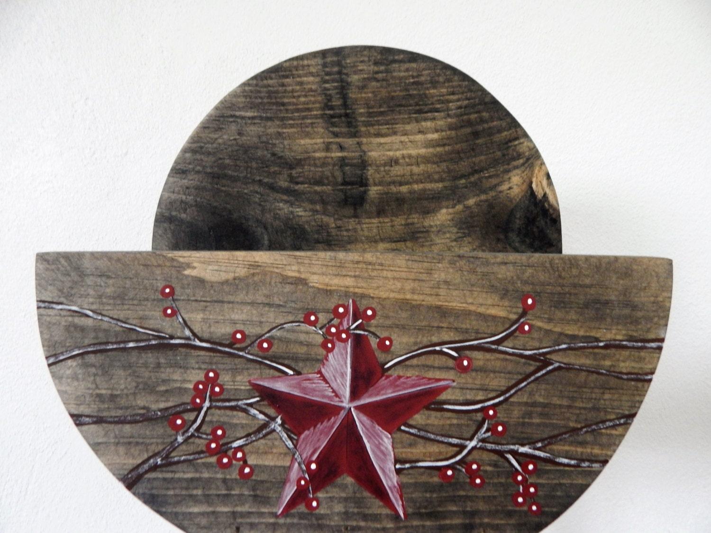 Rustic Star Kitchen Decor Paper Plate Holderprimitive Plate Holderrustic Kitchen Decor