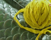 Chiffon Soft Sari Silk Ribbon Yarn Pretty Yellow Colorway