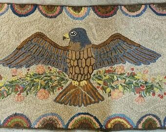 "Prairie Spirit hooked rug pattern 38""x66"" on primitive linen"