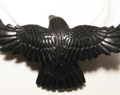 carved  Jet Raven  bead  ...................     Fully Carved ....    27 x 45 x 9 mm .........         B3033