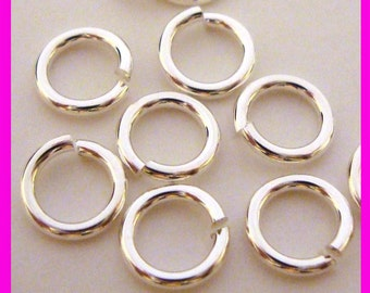 7mm 18 gauge round sterling silver open jump rings solid 925 connector findings R57