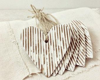Heart Tags-Kraft Heart Tags-Corrugated Tags