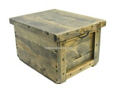 Wooden Box for Files, Filing System with Reversible Lid-Tray, Small File Cabinet, Mobile Work Station, File Organizer, Engraving Available