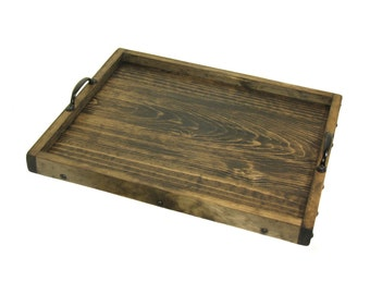 Ottoman Tray, Wooden Coffee Table Tray, Wood Serving Tray, Breakfast Tray, Bedside Tray, Decorative Tray, Buffet Table Tray, Service Tray