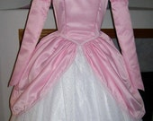 Custom Adult Little Mermaid Ariel Pink Castle Gown  Satin