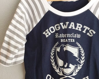 Girls & Womens - Ravenclaw Quidditch Harry Potter Raglan Tee, choose your size girls 6 thru womens L