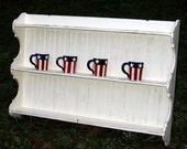 XL  Plate  Rack  , Cottage Wall Shelf