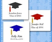 Graduation Note Cards, Personalized Custom, School Colors, Your Name, School, Class of 2016 Graduation Thank You/Graduation Party Invitation
