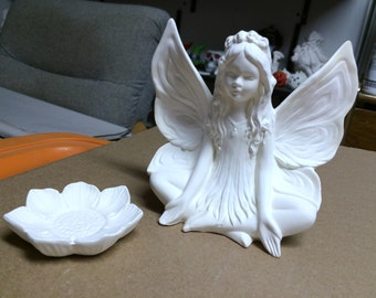 The Lotus Fairy Ready to paint Ceramics Poured by CrazyOldLadyJC