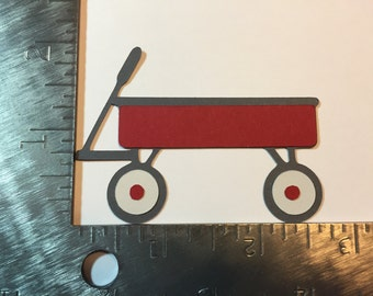 "2"" Red Wagon die cut"