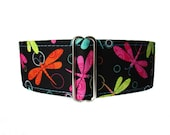 Dragonfly Martingale Dog Collar, Dragonfly Dog Collar, 2 inch Martingale Collar, Dog Collars Canada, Martingale Collars Canada