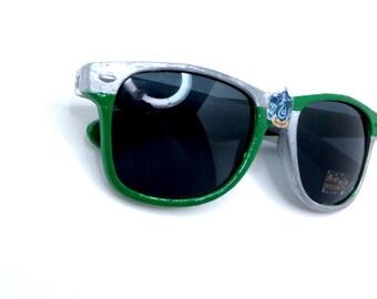 Slytherin- Green and Silver Slytherin Inspired Wayfarer Sunglasses