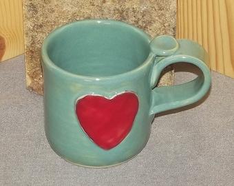 Heart Cup Original Hand Thrown Stoneware  8 oz