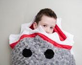 Shark Sleep Sack- Shark Blanket- Shark Bedding- Ocean Theme Bedding- Shark Nursery Set- Shark Minky Blanket- Ships out in 1-3 Days