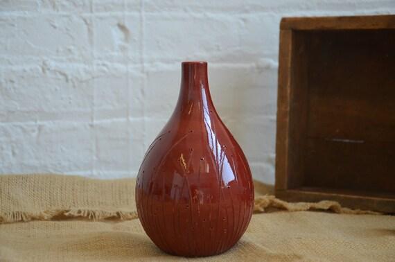 Diana Fayt Brick Brown Flower Vase