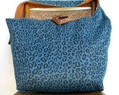 LEOPARD PRINT BAG - Hippie Bag - Crossbody Bag - Hippy Bag - Reversible Bag - Hobo Bag - Cross Body Bag - Over Shoulder Bag - Boho Bag