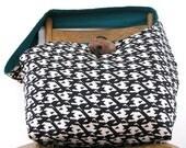 BLACK and WHITE BAG - Hobo Bag - Oversized Bag - Crossbody Bag - Hippie Bag - Over Shoulder Bag - Hobo Purse - Hippie Purse - Geometric Bag