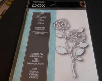 Memory Box ENGLISH ROSE STEM thin metal die