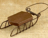 Lot of 3 Wood & Metal Sleds for you to Cross Stitch - Make Great Winter Christmas Ornaments