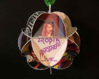 Todd Rundgren Utopia Album Cover Ornament Made From Record Jackets
