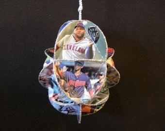 Baseball Card Ornament - Cleveland Indians Decoration