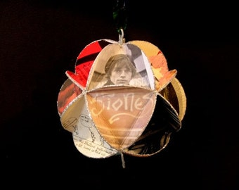 Rolling Stones Record Jacket Ornament Made Of Album Covers: Mick Jagger Keith Richards