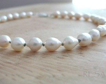 Freshwater Cultured Pearls Double Silk Knotted