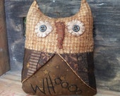 Primitive Owl with Patchwork Wings