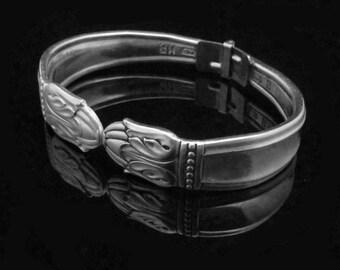 Spoon Bracelet, Mother's Day Gift, Ornate Spoon Jewelry, Danish Princess MEDIUM fits 6-7 inch wrist