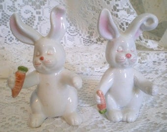 Vintage Fitz and Floyd Rabbit/Bunny Salt and Pepper Shakers