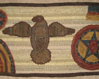 Primitive Rug Hooking Pattern~American Eagle