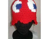 PATTERN - Crochet - Video Game Ghost Hat Beanie/Sunhat, three sizes