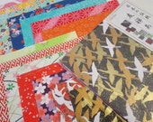 Folk Art Chiyogami - Beautiful Japanese Paper Pack for Traditional Japanese Origami Paper Project- 14 sheets