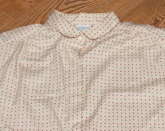 Levi Strauss & Co. Ladies Blouse, Big, Small Polka Dots, Vintage 60s-70s