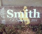 Licensed University of Wyoming Custom Wedding and Family signs , Stained and Hand Painted