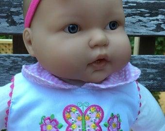 Hot Pink Baby Headband with Satin Rose