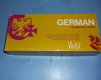 Vintage GERMAN Vocabulary Cards from Vis-Ed set of 1000 word cards with German and English Great for Learning or Crafting HomeSchool