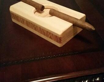 Handmade cigar ashtray