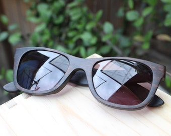 customize prescription RX Walker2012 Handmade Ebony Wooden Takemoto Sunglasses Glasses