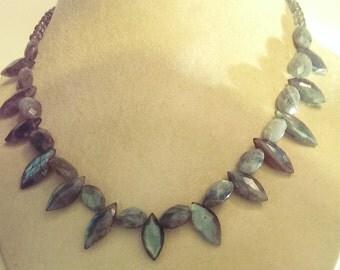 Labradorite Marquis Necklace