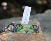 Rescue Cat Adjustable Necklace - Opens so that you can customize to hold your fortunes, inspirations & dreams